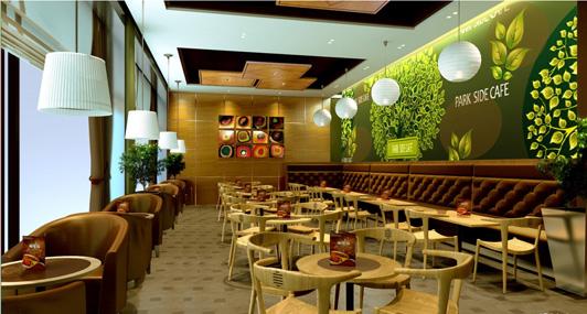 现代人的生活品位越来越高,精神上的满足感越来越来越重要,咖啡馆装修就需要从各个不同的角度去考虑,尽量满足顾客对咖啡馆的装修环境的需求,把它装修得更加有特色,更加文艺一点。小编搜集了几个经典的精品咖啡馆装修案例,与大家一起分享。  现代中式混合风格咖啡馆装修效果图 此咖啡馆装修案例中,最有特色的装修元素就数它的装修格调,餐桌椅的外观形状的设计,它是那种镂空了靠背的长脚椅,很有中式装修风格的味道。它的灯具照明的布置是左右两边对称,而且颜色相同,不过左边的吊灯是台灯的形状,属于现代生活文化的元素,而在右边的吊灯