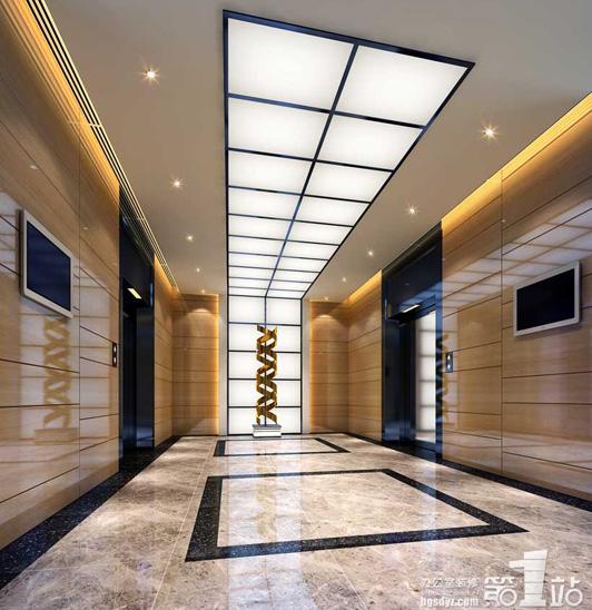 永恒物业写字楼设计电梯间效果图图片