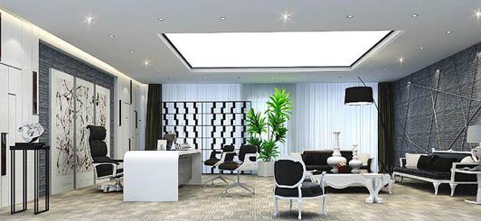 办公空间设计案例总经理室效果图