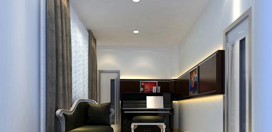 艺术中心装修设计钢琴房效果图