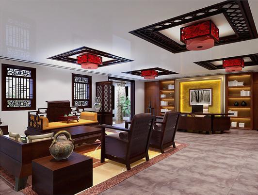 中式风格办公室装饰图片
