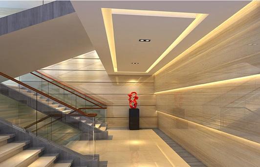高端办公空间设计楼梯间效果图