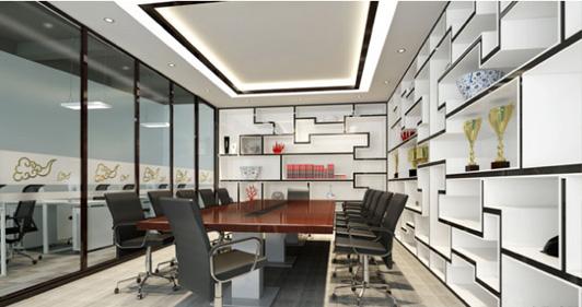 创意办公装修会议室效果图