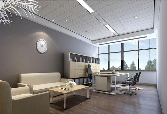 简约风格的办公室装饰董事长办公室效果图