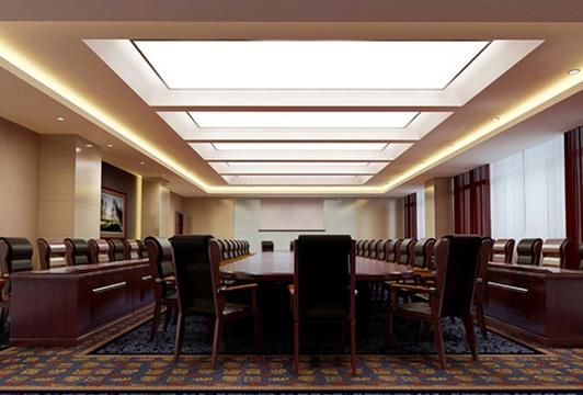 政府机关室内设计办公空间会议室效果图