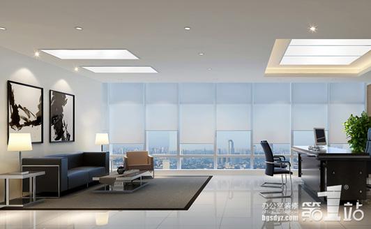 百世鑫进出口贸易公司办公室设计经理室效果图