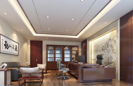中式办公室装修风格效果图-办公室装修风格 哪种你最爱高清图片