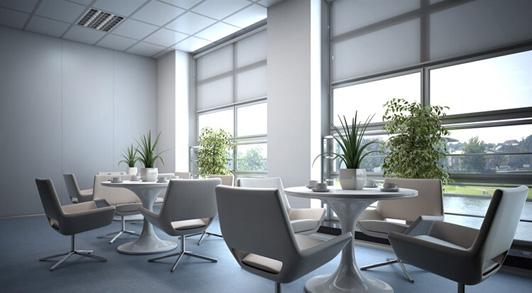 商务咨询公司办公室设计接待区效果图