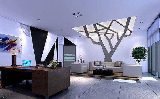 温馨时尚已经快要成为这个时代的代名词了,很多企业的办公室装修设计也开始走这个路线,这是要打造一个温馨时尚的办公环境。莱多服饰公司的办公室装修设计就是一个典型的这一风格的装修设计案例。  时尚办公室装修设计经理室效果图 顶级的灯光布局是此总经理办公室装修设计的最大的一个特点,石膏板平面天花是莱多服饰装修公司装修设计案例最得意的地方,因为这是高端型的装修设计才会有这种等级的装修用材。经理班台的正对面是一颗树的造型的模型,寓意是业的发展不断壮大。  时尚办公室装修设计陈列室效果图 陈列办公室装修设计是最时尚最温
