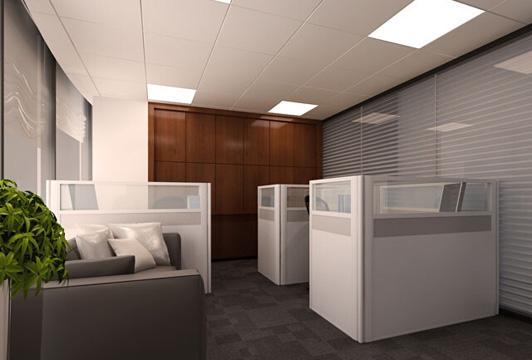 物流公司办公室装修设计财务室装修效果图