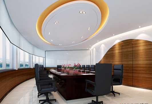 体育文化公司办公室设计会议室装修效果图图片