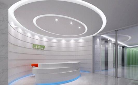 化妝品辦公室裝修前臺裝修效果圖