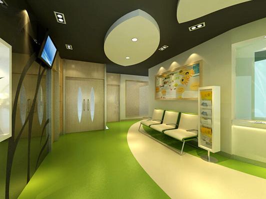 现代医疗办公室装修前厅装修效果图