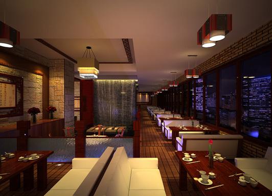 中式风格餐厅设计效果图三