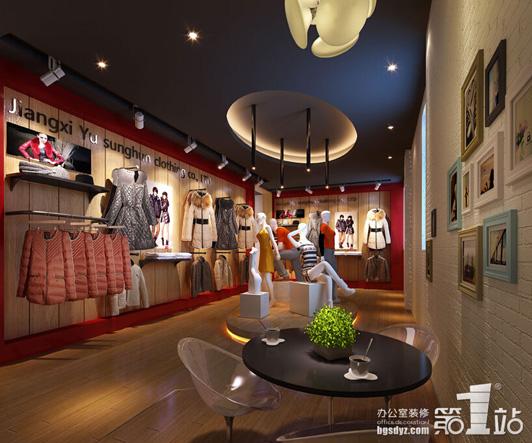 广州展厅设计公司煜勋服饰展厅效果图