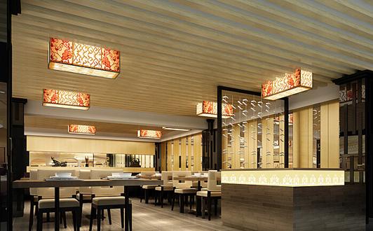 广州餐厅背景装修效果图一酒楼新中国外交的图片