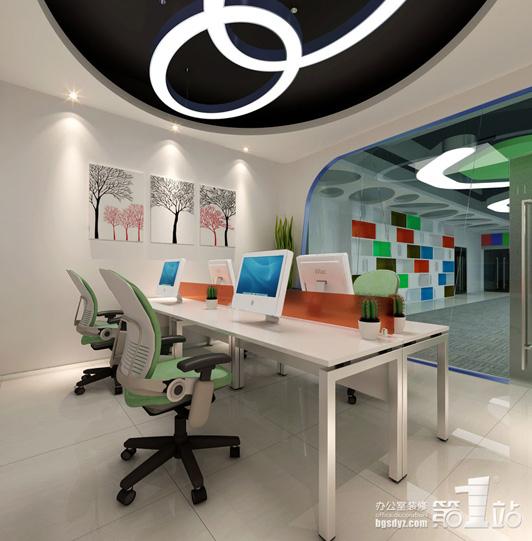 广州办公室装修公司起点零久财务室效果图