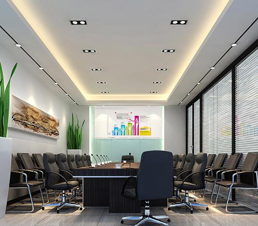 实力型办公室设计雅琦科技会议区装修效果图