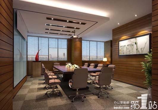 省二院办公装修案例会议室装修效果图