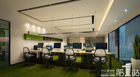 绿色代表环保,它的 广州办公室装修的环保的设计的元