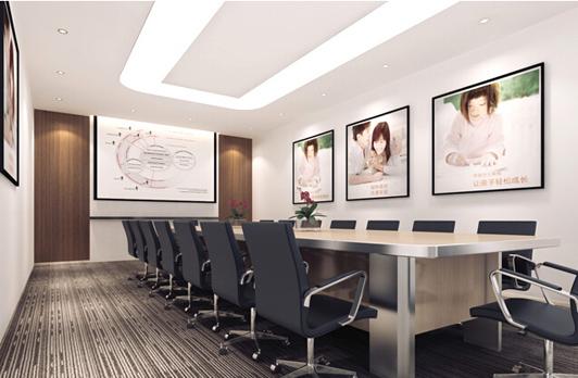 大型企业的办公室装饰会议区效果图