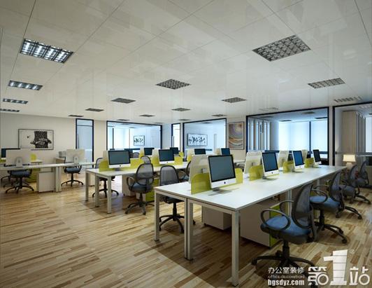 标准型办公室设计公共办公区装修效果图