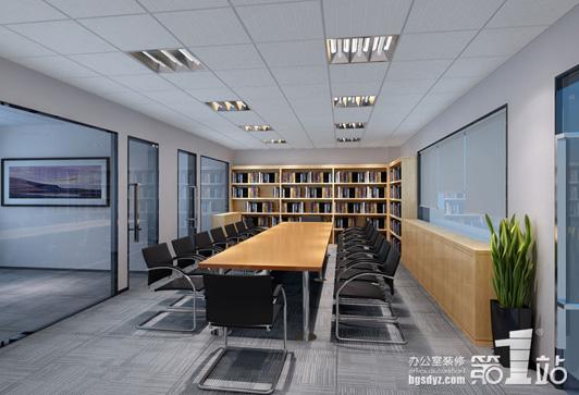 创艺设计办公室装修会议区效果图