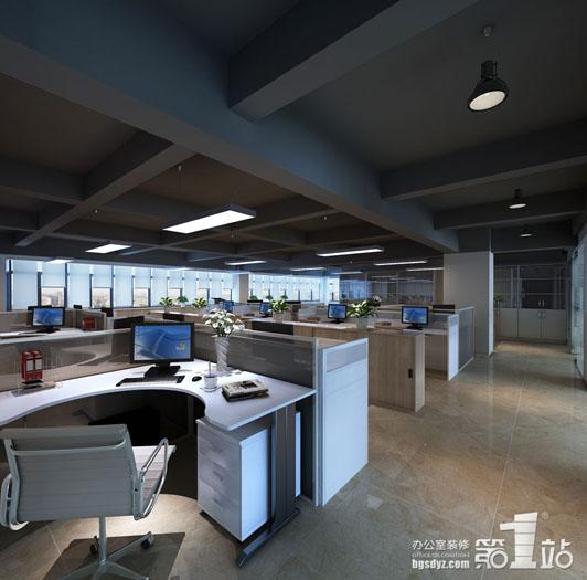 高效的办公室装饰办公区效果图
