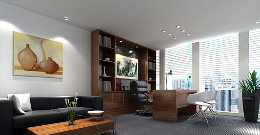 时尚风格办公室设计总经理室效果图