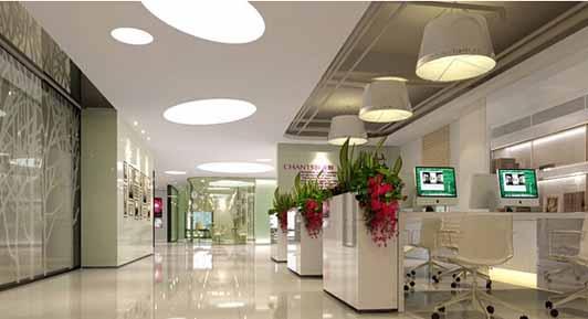 室装饰装修常识 办公室文化 > 正文  现代风格化妆品公司办公室设计