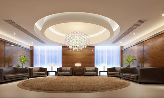 古典家具企业的办公室装饰接待区效果图