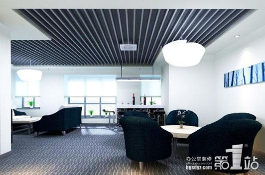 天河商务区办公室设计洽谈室效果图