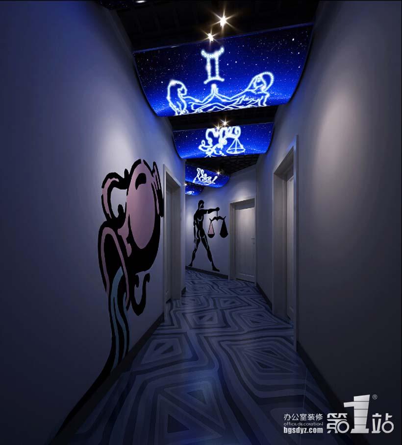 广州巴森星座餐厅设计过道效果图