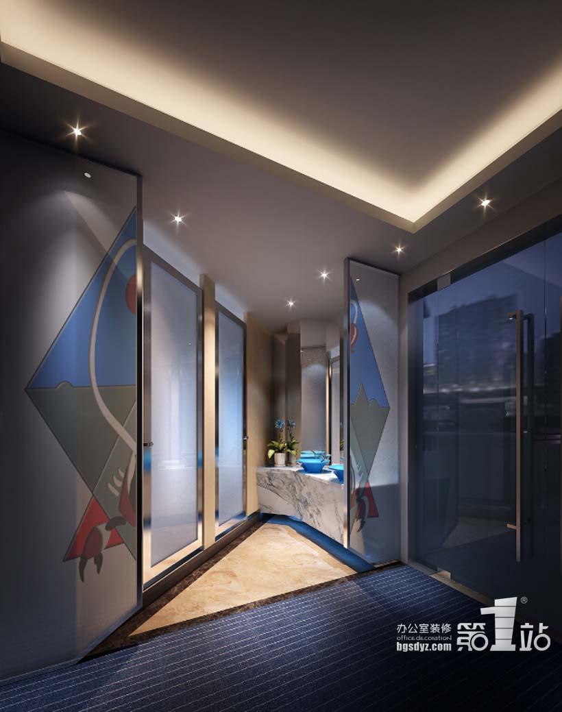 广州巴森星座餐厅设计洗手间效果图