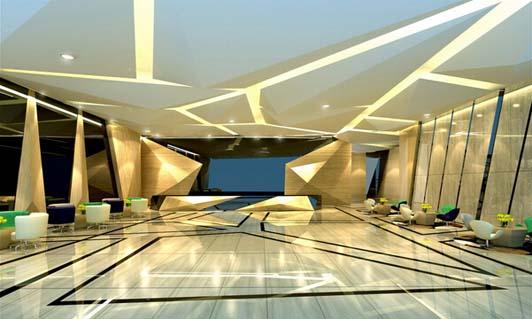 公司办公室装修设计会客区效果图-灯具行业公司办公室装修设计