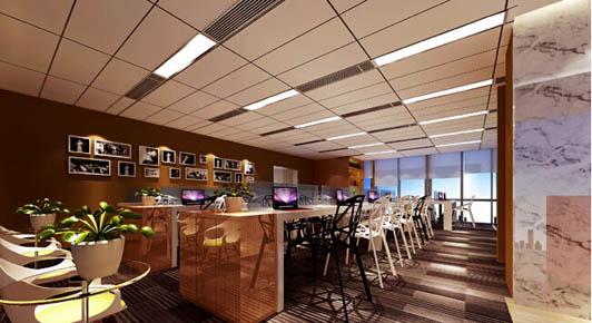 豪华精美的办公室装饰办公区效果图-豪华精美的办公室装饰