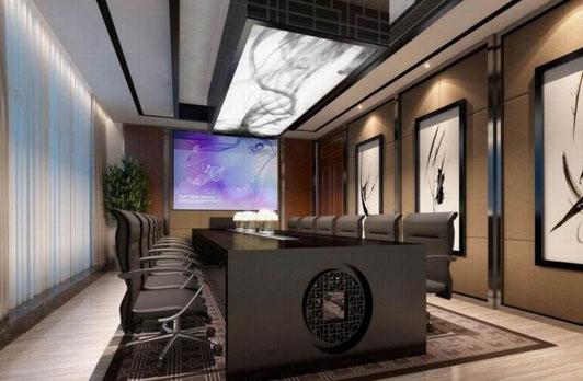 创意空间办公室装修设计会议室效果图