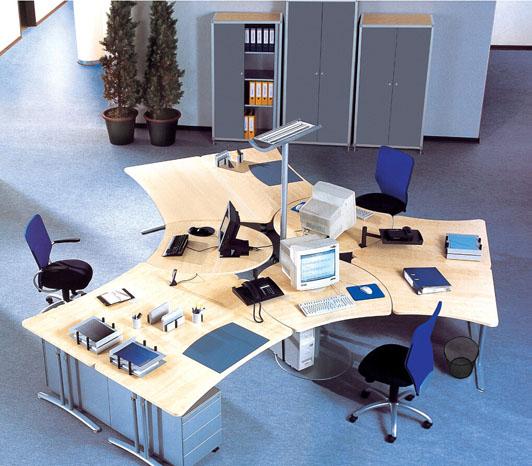 简约现代风格员工办公室设计效果图02
