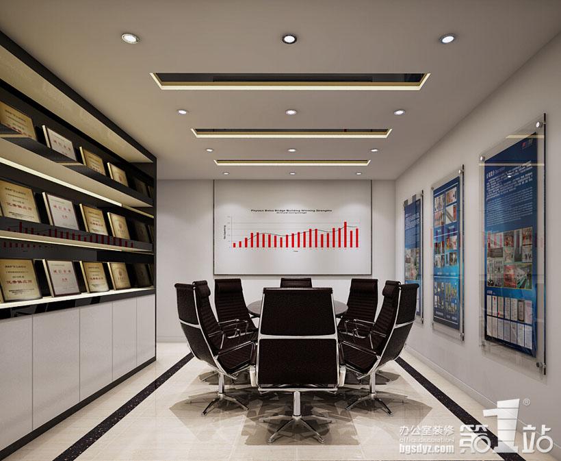 广州星盾警用装备公司办公室装修设计总经理室效果图