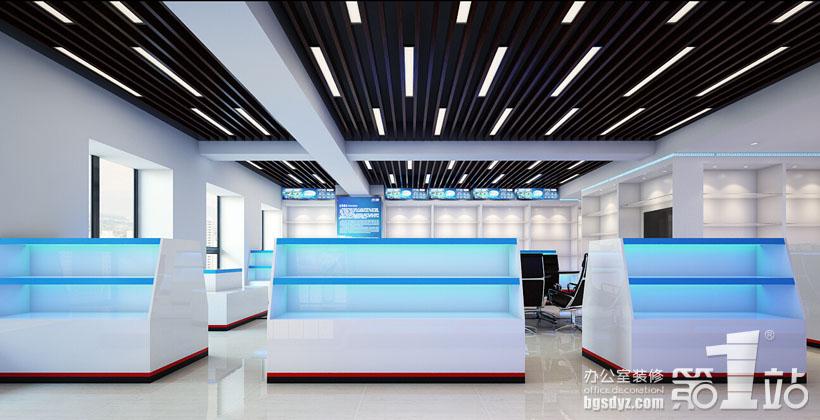 廣州星盾警用裝備公司辦公室裝修設計展廳角度三效果