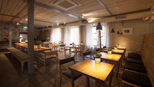 清新主题的创意咖啡馆设计
