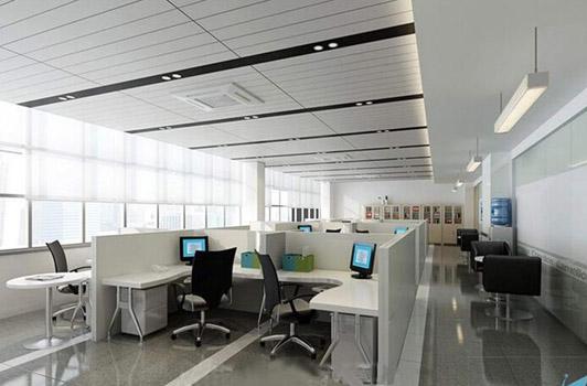 某互联网集团广州办公室装修02案例办公区效果图