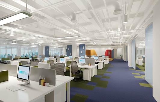 几款大空间的办公室设计(图)