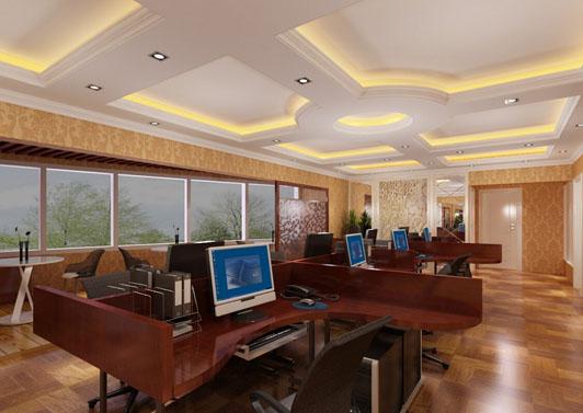 现代欧式风格办公室装修设计案例效果图