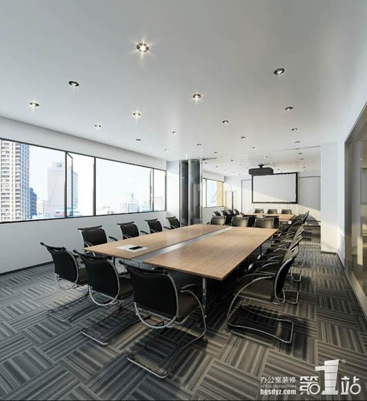 奥园房地产集团办公室装修设计会议室效果图