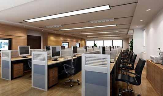 办公室装修办公区效果图