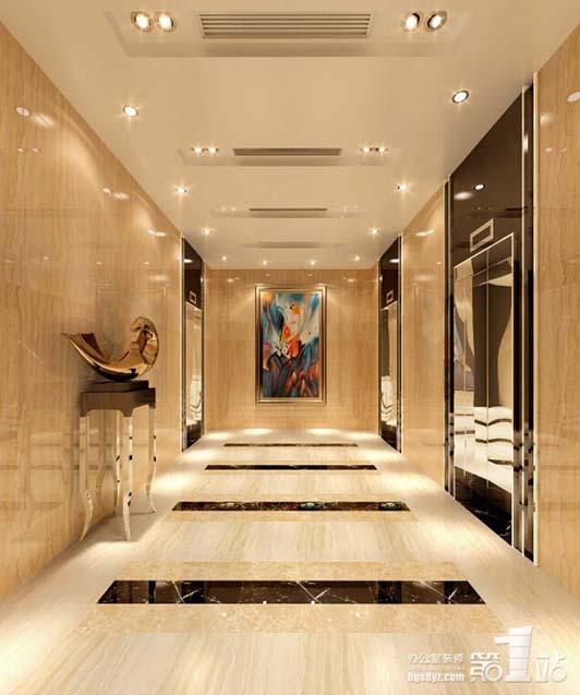 全新风格办公室装修设计电梯间效果图