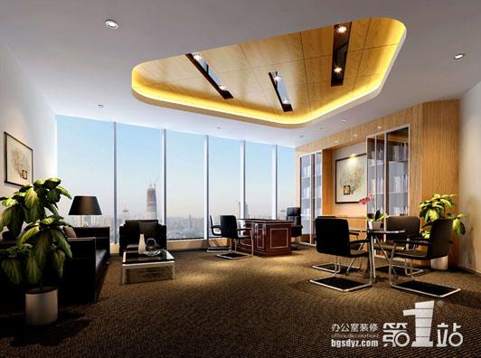 现代化金融公司广州办公室装修效果图03