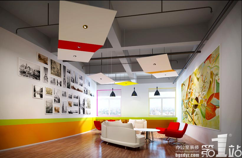 广州新久佰食品公司办公室装修设计茶水间效果图