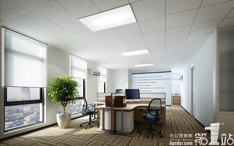 广州博通文化办公室装修设计办公区效果图-广州博通文化办公室装修
